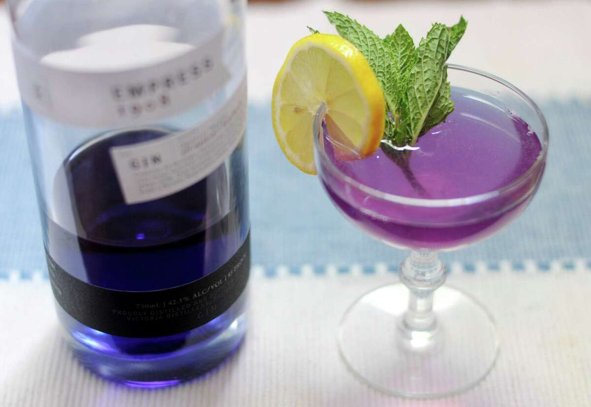 Empress 1908 Gin is made with butterfly pea blossoms, which gives the liquor a color-shifting property when exposed to acid such as lemon juice.
