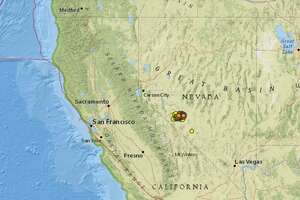 A search on the USGS website reveals that more than 500 quakes of magnitude 2.5 and above have hit near Tonopah in western Nevada since a 6.5 quake struck on May 15, 2020.