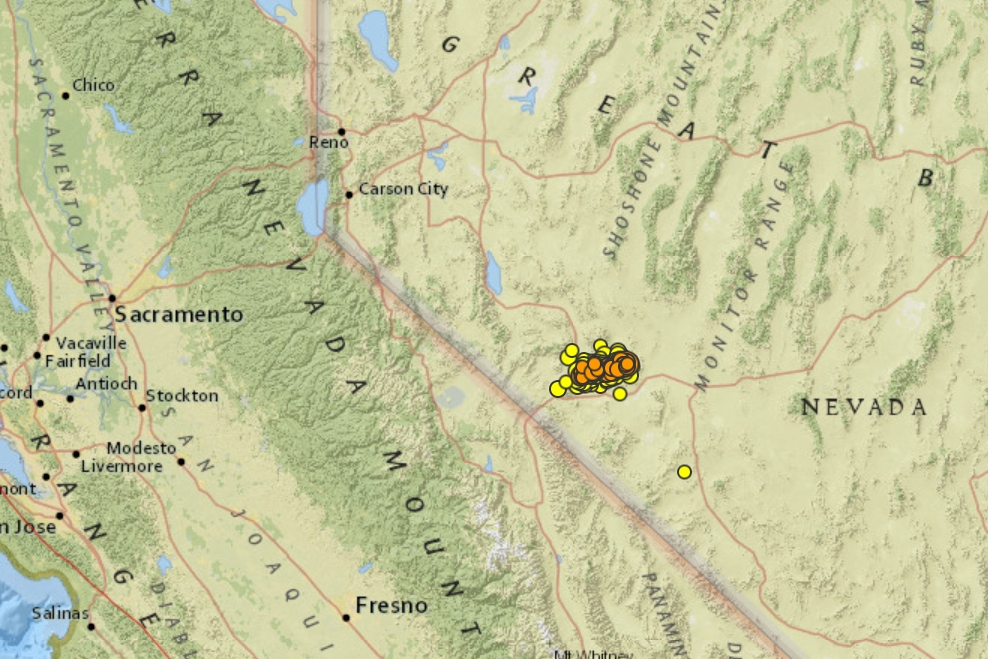 More than 500 earthquakes rattle western Nevada after 6.5 hit less than a week ago