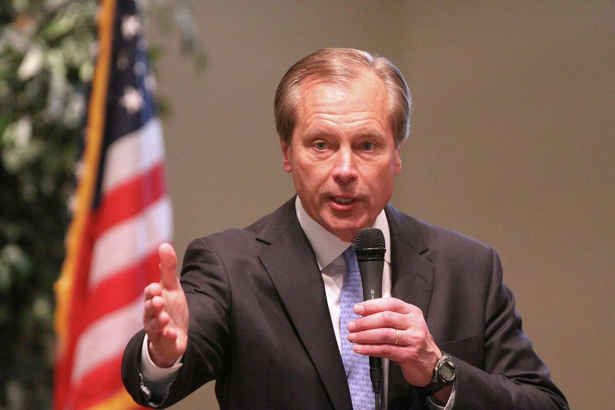 Former Lt. Gov. David Dewhurst, 74, suffered two fractured ribs after he was allegedly attacked by his girlfriend, who was charged with injury to an elderly person, a third-degree felony in Texas.