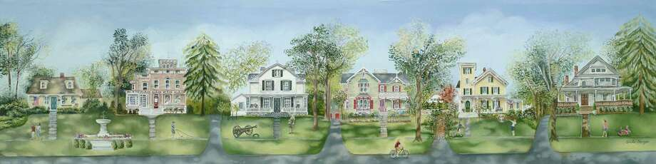 "The Aldrich Contemporary Art Museum is selling a limited-edition print, ""Porches of Ridgefield"" by Tina Cobelle-Sturges to benefit the museum during the coronavirus pandemic. Photo: Contributed Photo"