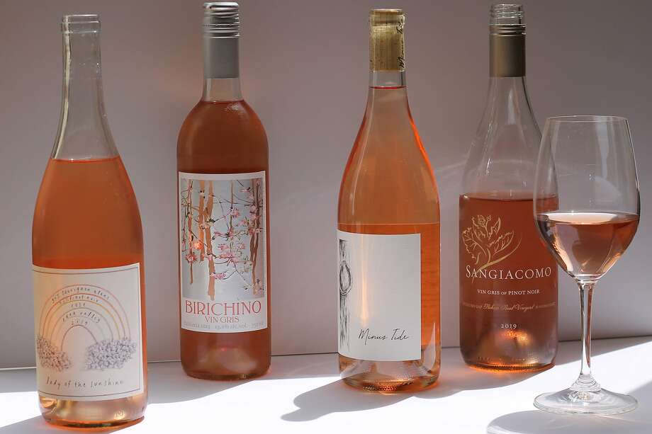 2019 rose wines from Lady of the Sunshine, Birichino, Minus Tide and Sangiacomo. Photo: Esther Mobley / The Chronicle