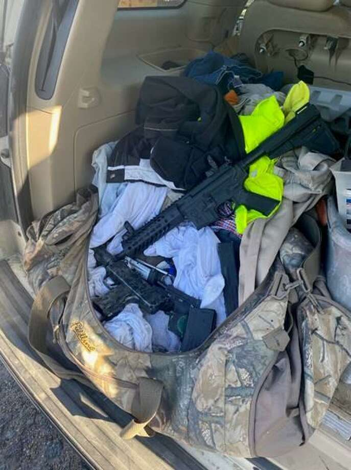 U.S. Border Patrol said they seized these weapons on Monday morning at the Hebbronville Station. Agents said that records checks on the firearms revealed that a pistol had been reported stolen. Photo: Courtesy Photo /U.S. Border Patrol