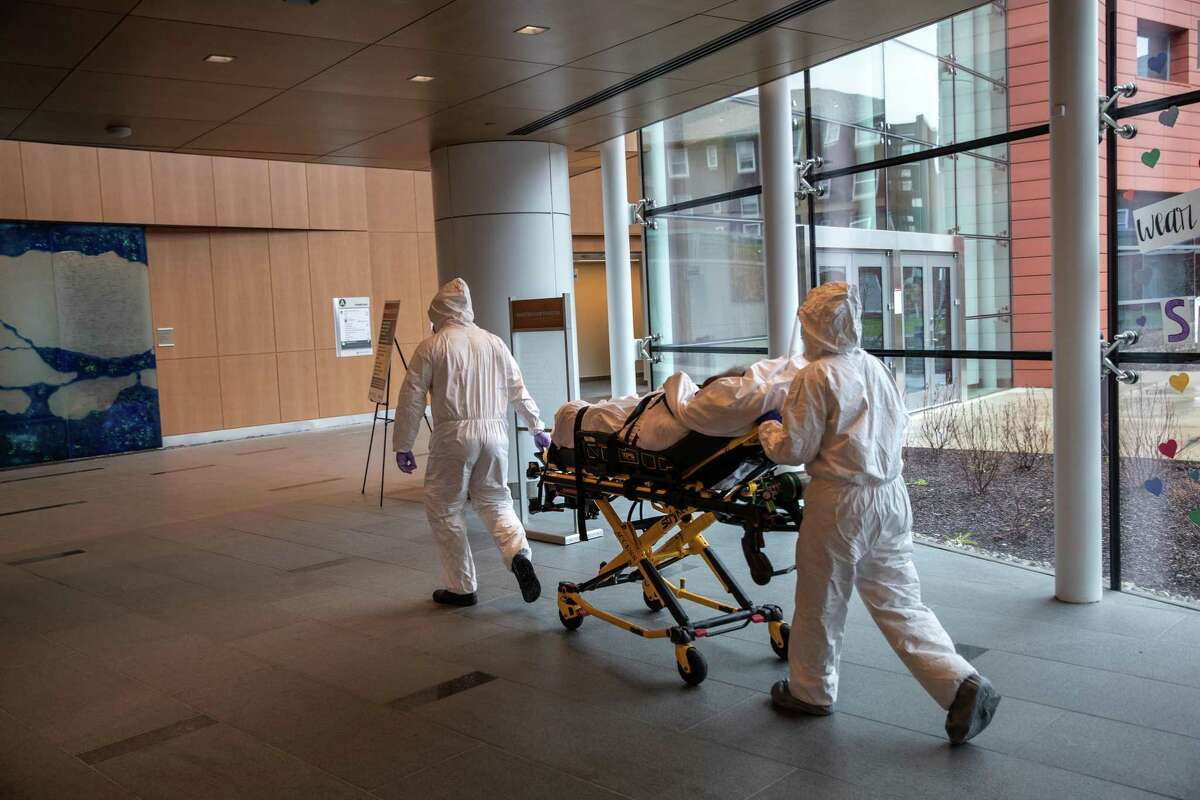 Legislation that would have made it easier for plaintiffs to sue hospitals and nursing homes for failing to follow COVID protocols died Friday in the General Assembly's Judiciary Committee. This is a 2020 file photo from Stamford Hospital.
