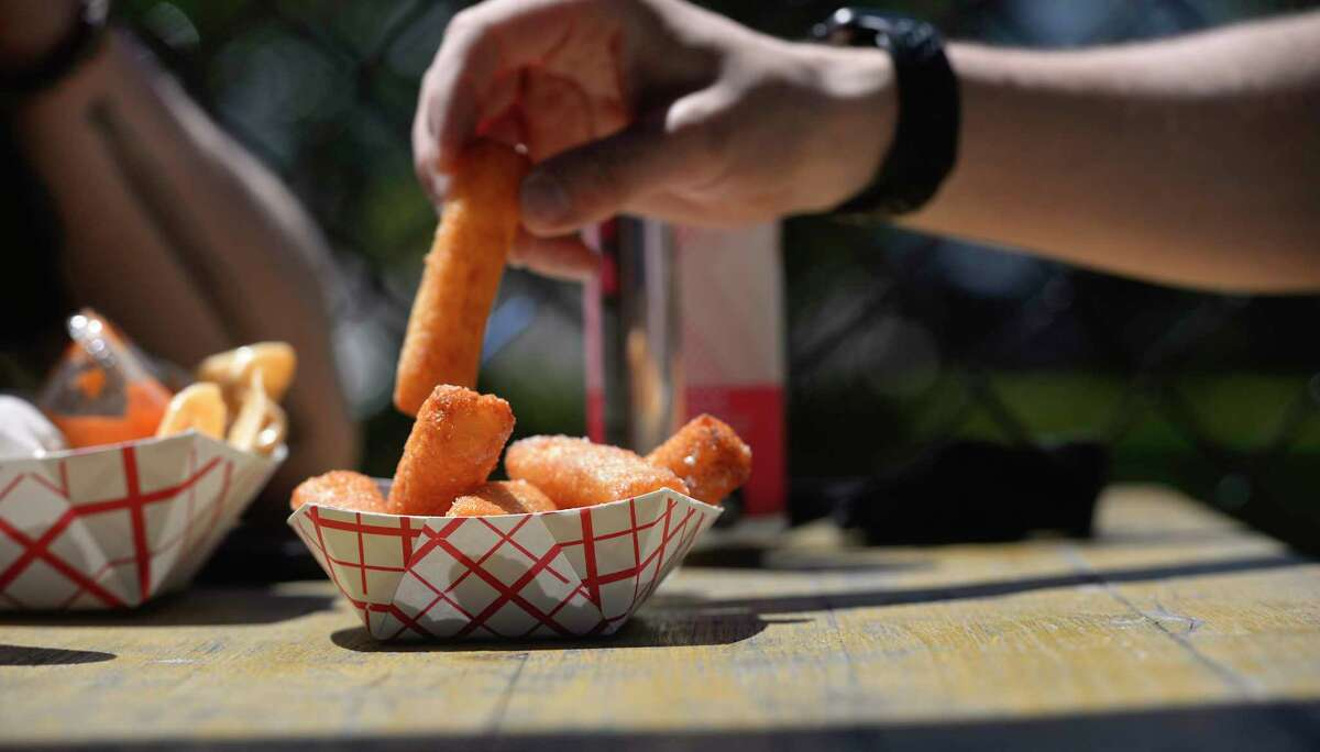 Yucca fries were one of the specials at Broken Symmetry Gastro Brewpub as it reopened to outdoor sit-down dining on Wednesday under Phase 1 of Connecticuts reopening plan. May 20, 2020, in Bethel, Conn.