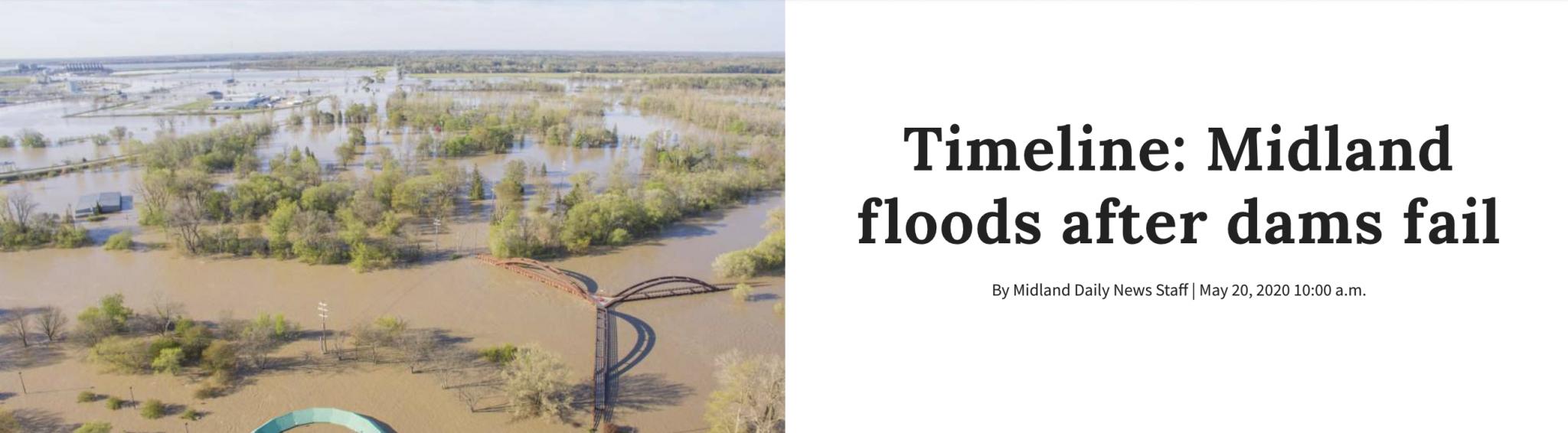 May 2020 Flood Timeline