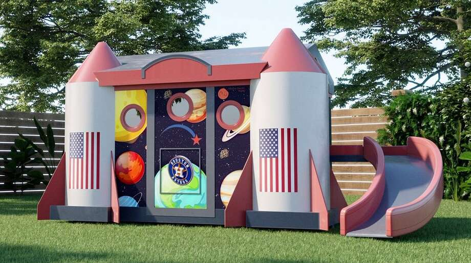 The Mission Control Playhouse is being built by First America Homes, the home building division of The Signorelli Co.