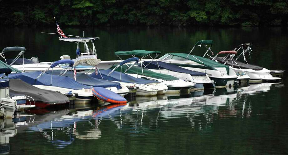 File photo of boats at Lynn Deming Park, Monday, August 7, 2017, in New Milford, Conn. Photo: H John Voorhees III / Hearst Connecticut Media / The News-Times