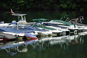 File photo of boats at Lynn Deming Park, Monday, August 7, 2017, in New Milford, Conn.