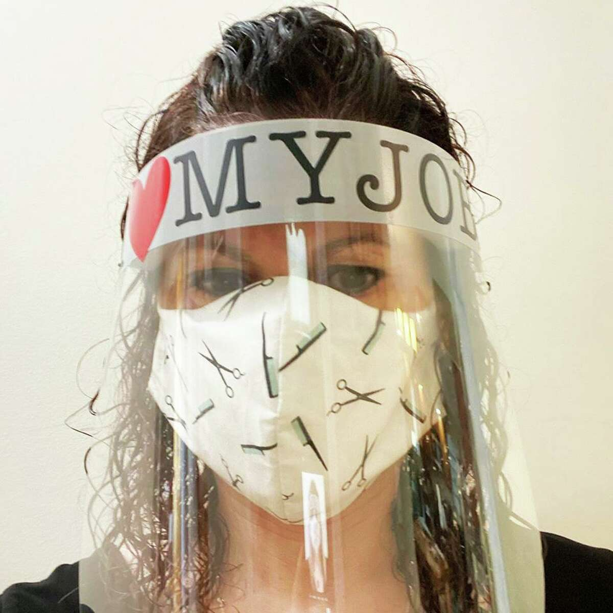 Jessica Sassu, owner of Jessica's Color Room in Middletown, spent thousands of dollars on face shields, masks, gloves and other protective equipment, including air sanitizers, in order to reopen during the coronavirus pandemic. She even wrote a letter to the governor urging him to reconsider his decision.