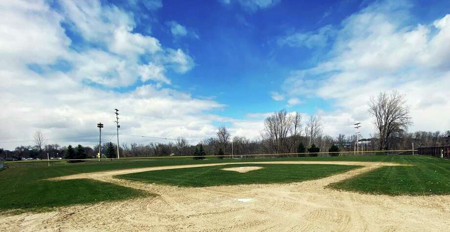 Empty baseball and softball diamonds in and around Big Rapids will be a familiar sight, with many local leagues choosing to not have a season. (Pioneer photos/Joe Judd)