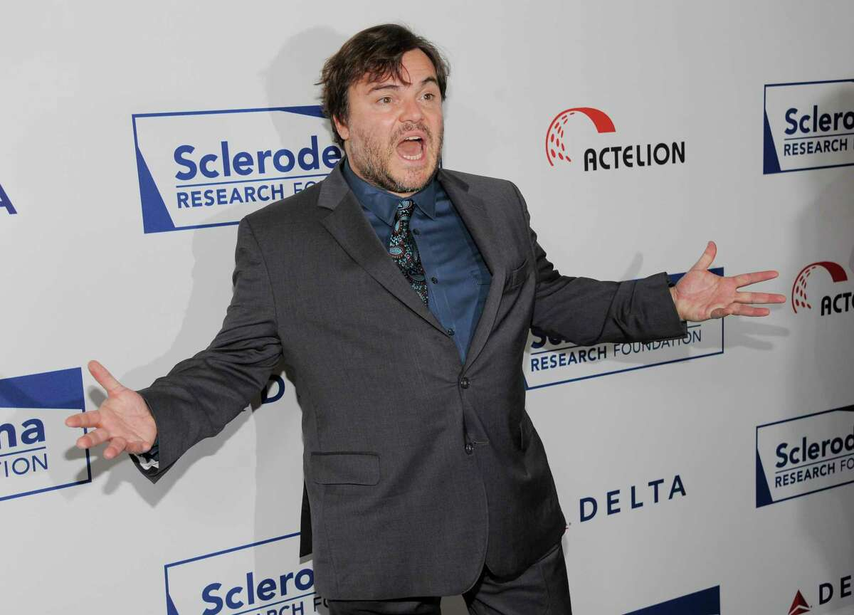 Actor Jack Black poses for photographers at the Cool Comedy's Hot Cuisine Benefit for the Scleroderma Research Foundation at the Four Seasons Hotel on Tuesday, April 30, 2013 in Beverly Hills, Calif. (Photo by Chris Pizzello/Invision/AP)