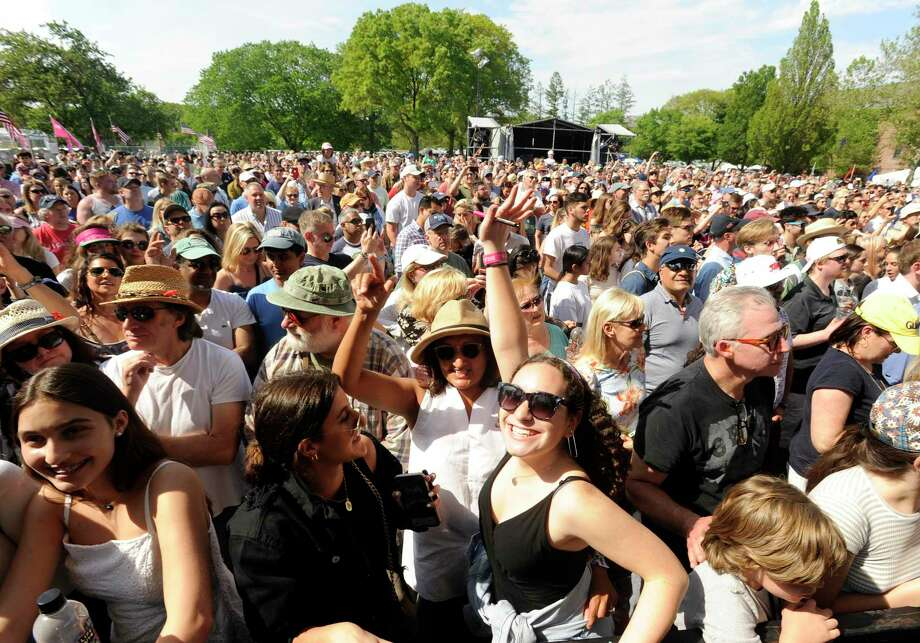 The Greenwich Town Party all day musical event at Roger Sherman Baldwin Park on May 25, 2019 in Greenwich. The 2020 one has been canceled. Photo: Matthew Brown / Hearst Connecticut Media / Stamford Advocate Contributed