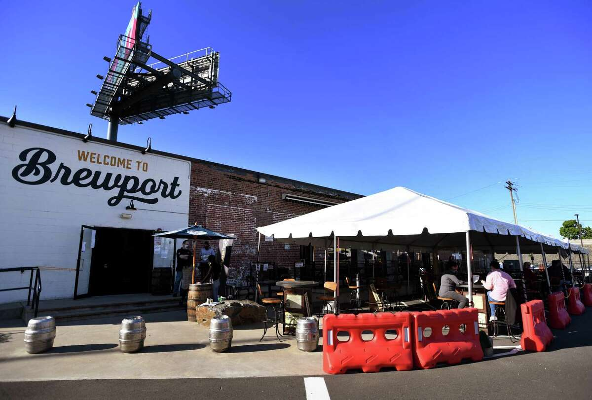 Brewport reopened with a new outdoor dining area in Bridgeport on Tuesday, May 19, 2020.