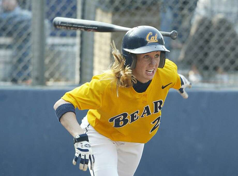 Chelsea Spencer, shown in her playing days at Cal, has become the Bears' head softball coach. Photo: Michael Pimentel / Cal Athletics