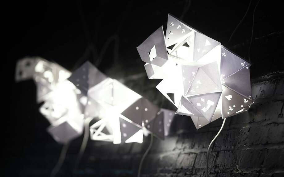 In this file photo, students from Davis Academy for Arts and Design Innovation in New Haven worked with University of New Haven students to build lighted sculptures made of tetrahedrons and octahedrons during a program incorporating math and art at the University of New Haven in West Haven on March 1, 2018. Photo: Arnold Gold / Hearst Connecticut Media / New Haven Register
