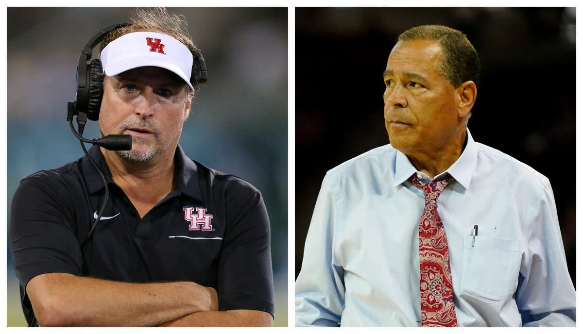 University of Houston football coach Dana Holgorsen and men's basketball coach Kelvin Sampson will take a 10 percent salary reduction for the next six months.