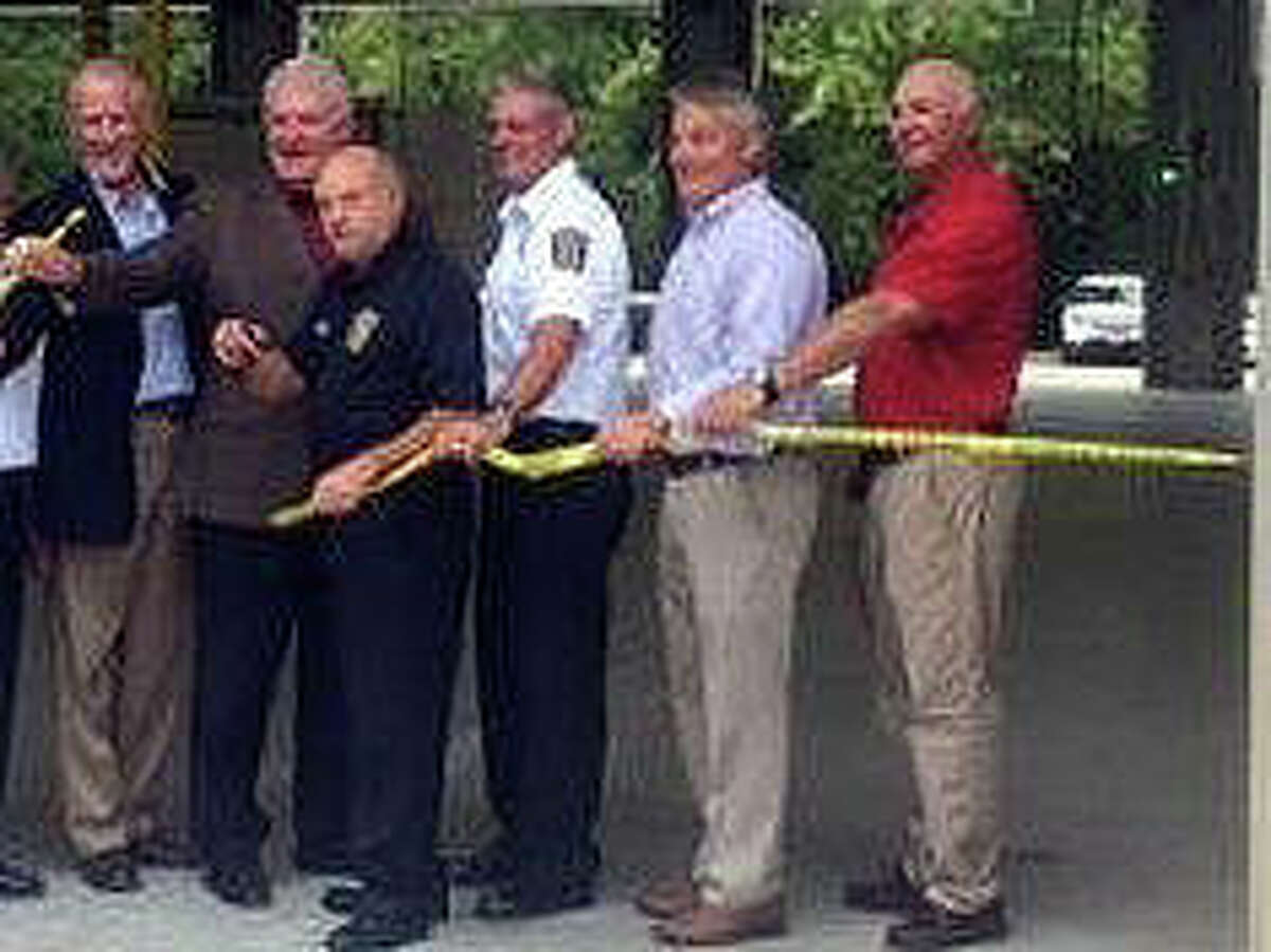 From left are Alan Schaake, treasurer; Jack Humes, trustee; Mark Abram, fire department; Eric Wilson, EMS director; Luke Harris, president, board of trustees; and Chris Otto, secretary. Not pictured is Ron Williams, trustee.
