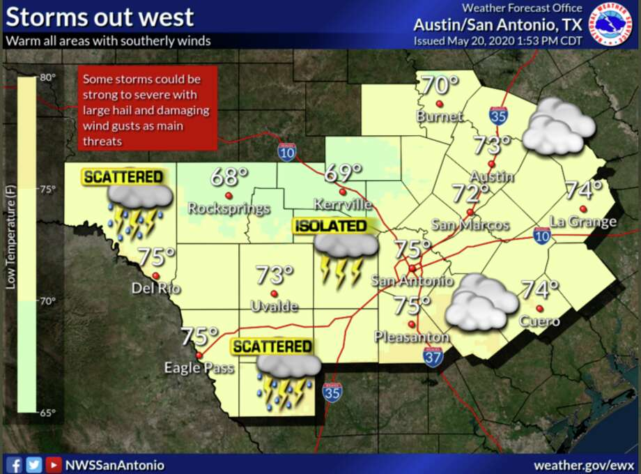 Storms possible in San Antonio Photo: Courtesy NWS
