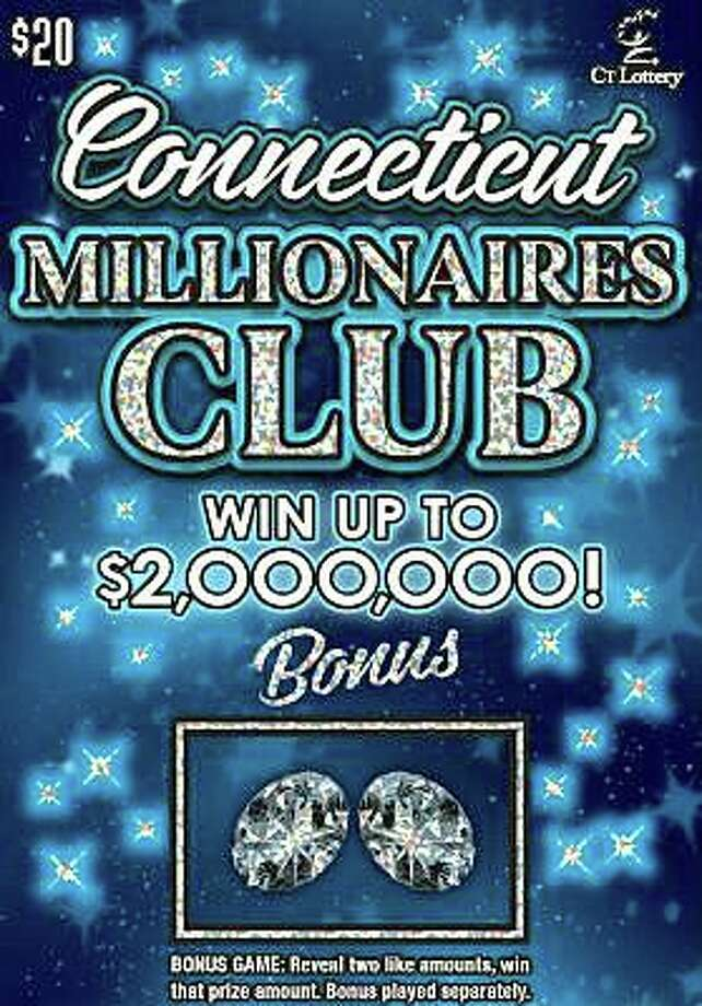 The $100,000 prize was won on a $20 scratch-off ticket in the Connecticut Millionaires' Club game. The odds of winning $100,000 in the game is 1 in 760,000, according to CT Lottery. Photo: CT Lottery Image
