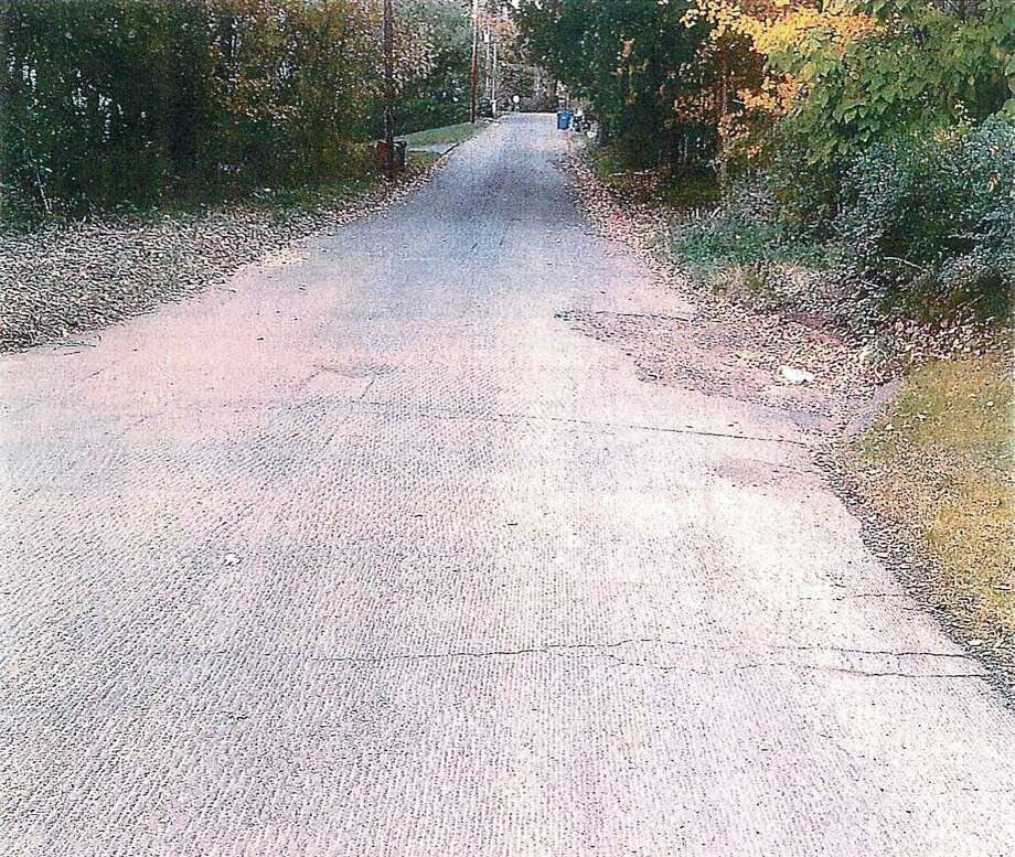 Photo of the roadway included in Benjamin Marino's lawsuit.