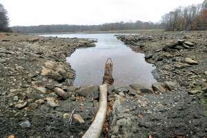 The. reservoir at Rockwood Lake, seen here during a distressed time during the most recent drought is now full of water again. But the pipeline connecting it to Stamford will have to be replaced and work is set to begin next week.