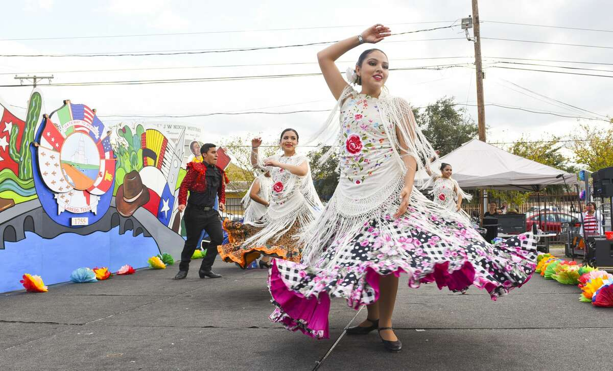 The Vidal M.Trevino School of Communications and Fine Arts Flamenco Company perform traditional dances, Tuesday, Oct. 29, 2019, during the Hispanic Festival 2019 at the VMT School of Communications & Fine Arts.