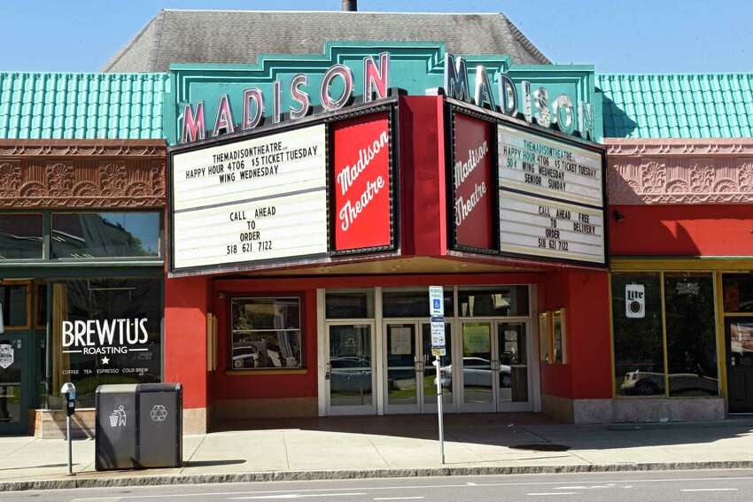 Exterior of the Madison Theatre on Thursday, May 21, 2020 in Albany, N.Y. (Lori Van Buren/Times Union)