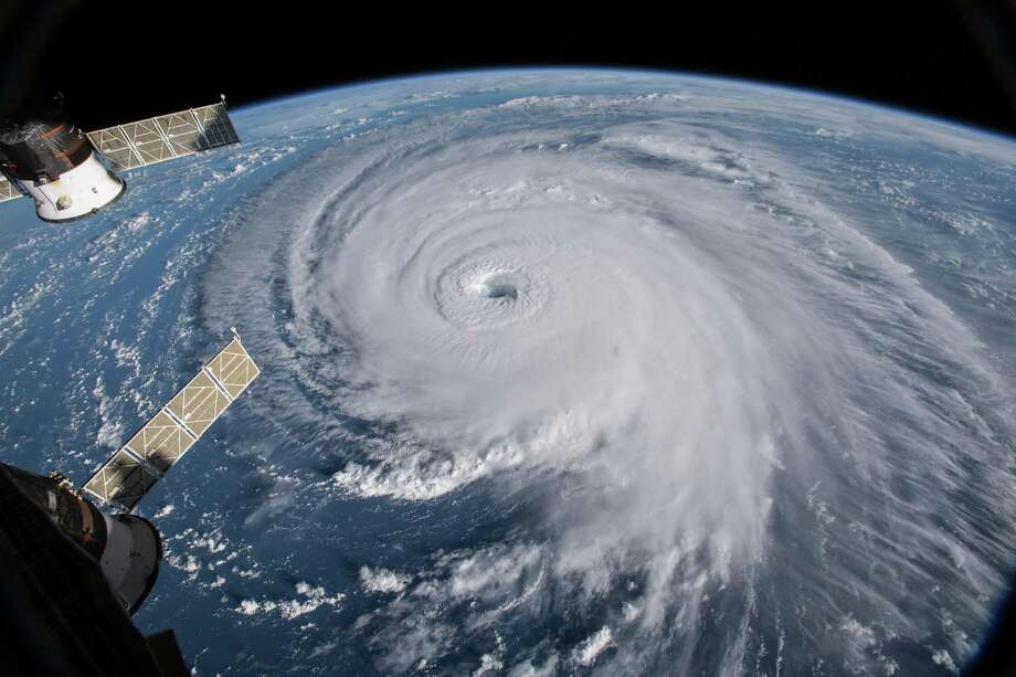 In an image provided by NASA, Hurricane Florence, seen from the International Space Station, in the Atlantic in September 2018. (NASA via The New York Times) Photo: NASA, HO / NYT / NASA