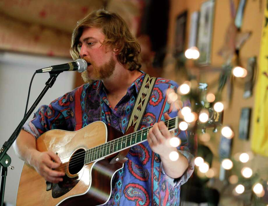"Caleb Hoelscher, lead singer of the band ""The Homegrown Tomatoes,"" returns to the stage at The Corner Pub on Saturday night at 9 p.m. Photo: Jason Fochtman, Houston Chronicle / Staff Photographer / Houston Chronicle  © 2020"
