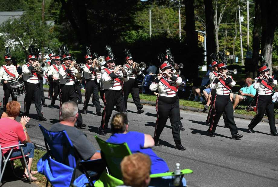 The Danbury Drum Corps performs in the annual Connecticut State Firefighters Association parade on Church Street in the Huntington section of Shelton, Conn. on Sunday, September 15, 2019. Photo: Brian Pounds / Hearst Connecticut Media / Connecticut Post