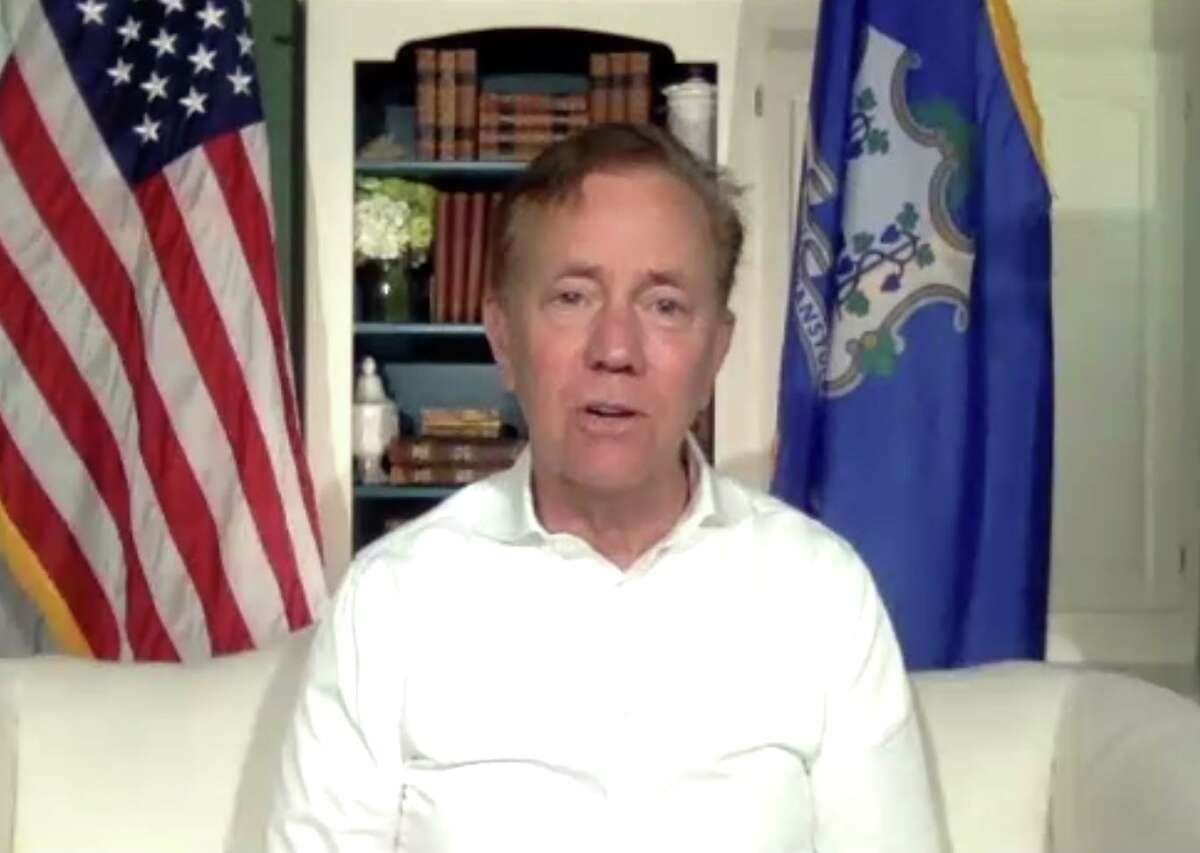 Connecticut Gov. Ned Lamont speaks about the state's coronavirus re-opening measures and restrictions live on Zoom with Hearst Connecticut Media columnist Dan Haar.