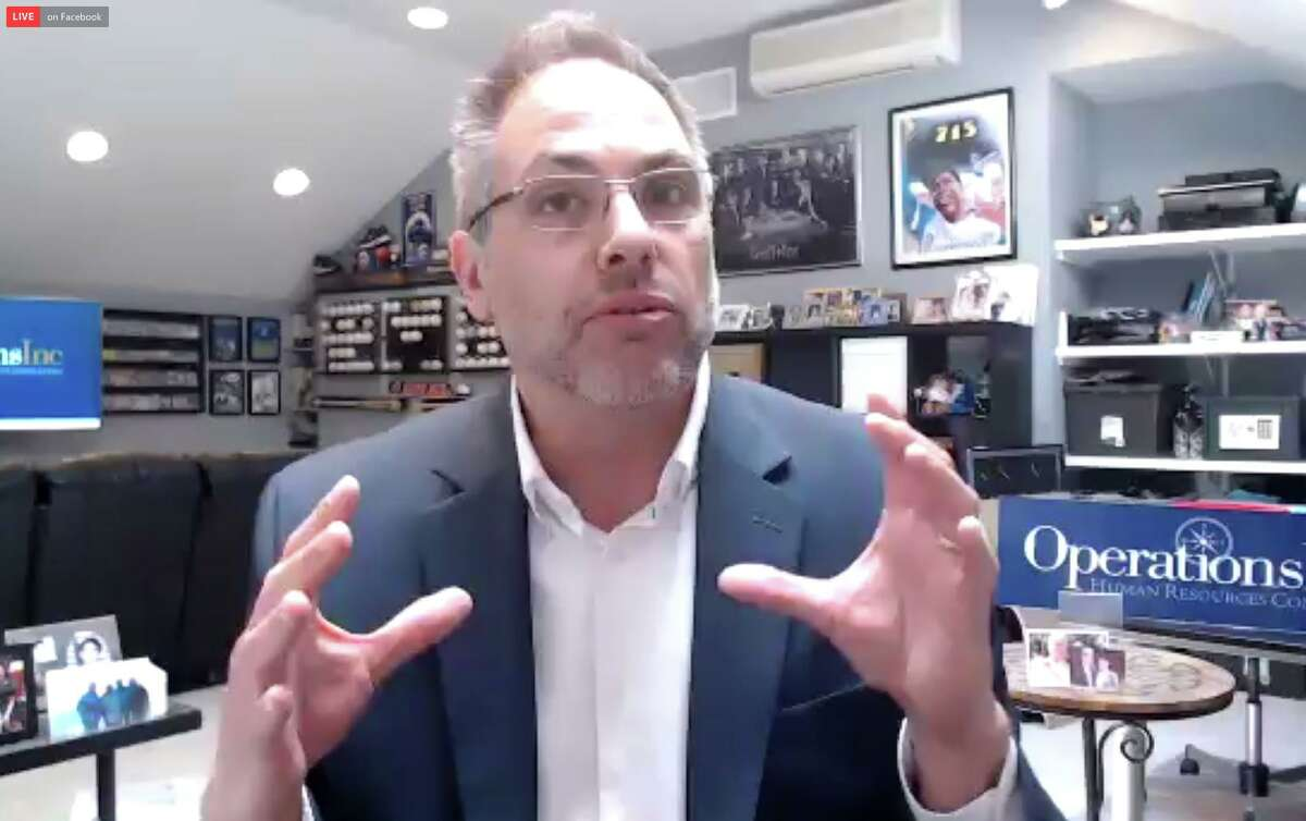 Human resources outsourcing and consulting firm OperationsInc CEO David Lewis speaks live on Zoom with Hearst Connecticut Media columnist Dan Haar.