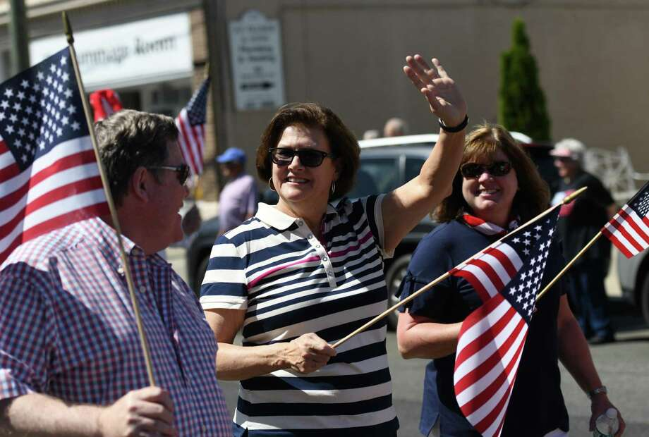The grand Memorial Day parade in Old Greenwich and other events are off because of coronavirus. But there are still several smaller events that will mark the meaning of the holiday with small groups gathering. Photo: Tyler Sizemore / Hearst Connecticut Media / Greenwich Time