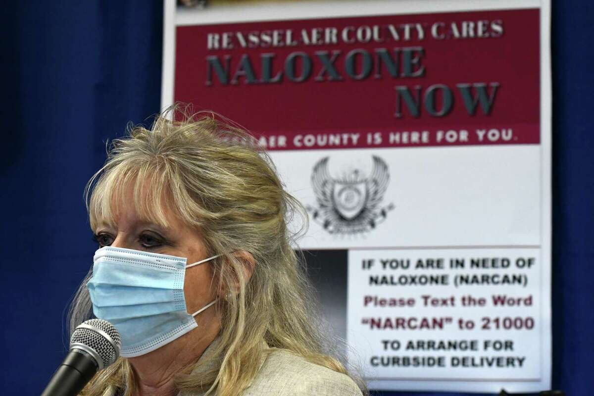 Rensselaer County Commissioner of Health, Mary Fran Wachunas . (Will Waldron/Times Union)