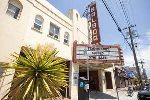 The exterior of the Balboa Theater in the Richmond District of San Francisco on May 20, 2020.