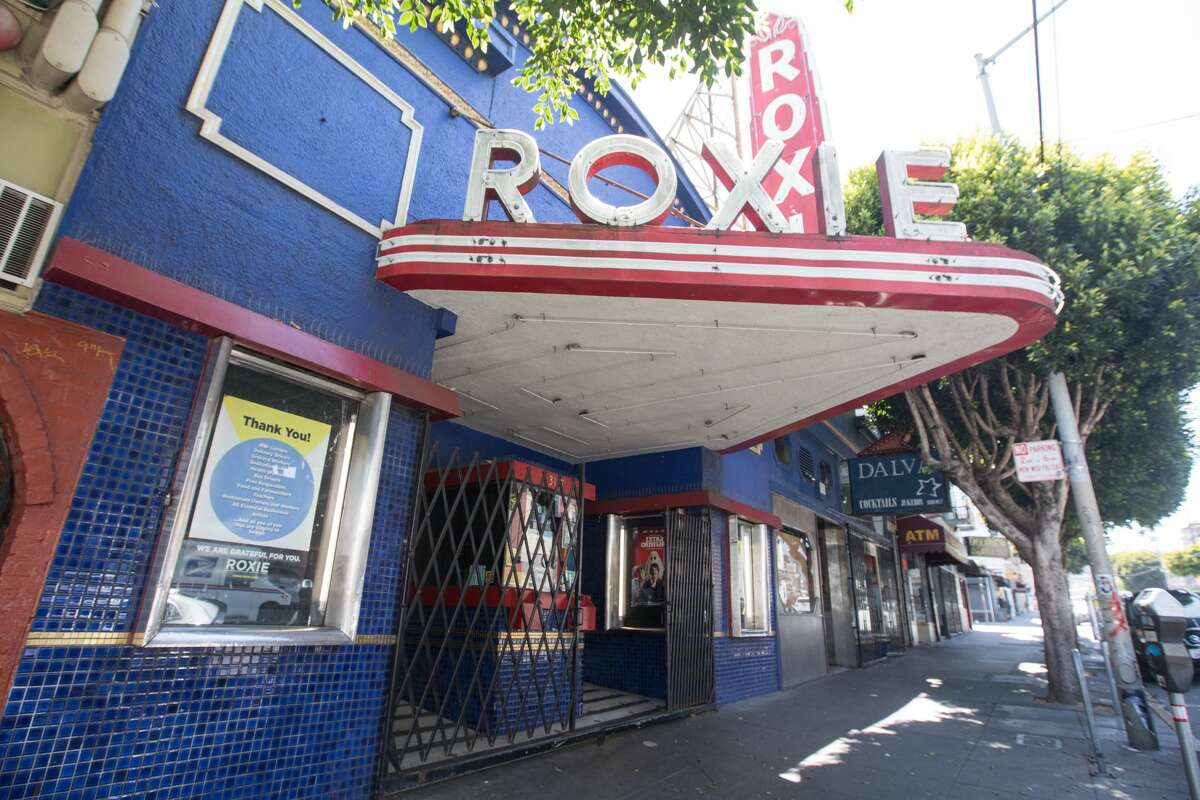 Many San Francisco movie theaters, including the Roxie Theater in the Mission District, remain closed.