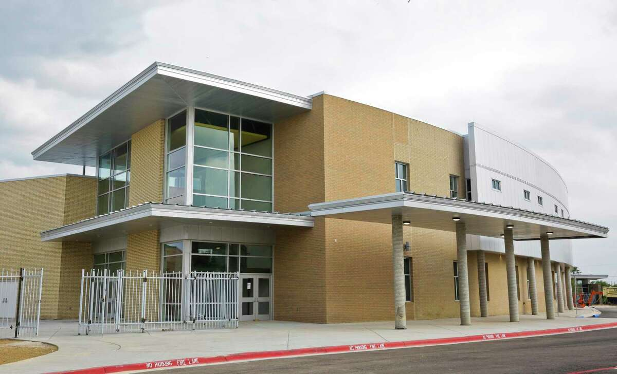 An exterior view of the new Vidal M. Trevi-o School of Communications and Fine Arts campus.