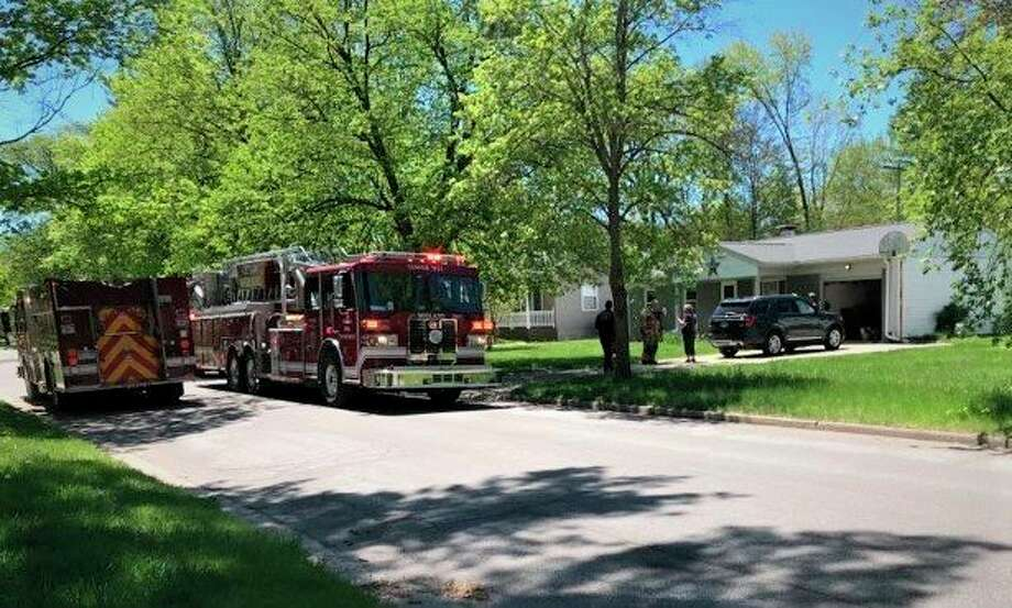 The Midland Fire Department was dispatched Thursday afternoon to a natural gas leak call in the 700 block of Wildes Street. (Daily News/Lori Qualls)