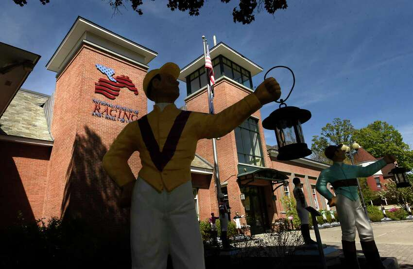 Exterior of National Museum of Racing and Hall of Fame on Thursday, May 21, 2020 in Saratoga Springs, N.Y. The National Museum of Racing and Hall of Fame announced that the 2020 induction ceremony has been canceled because of the coronavirus pandemic. (Lori Van Buren/Times Union)