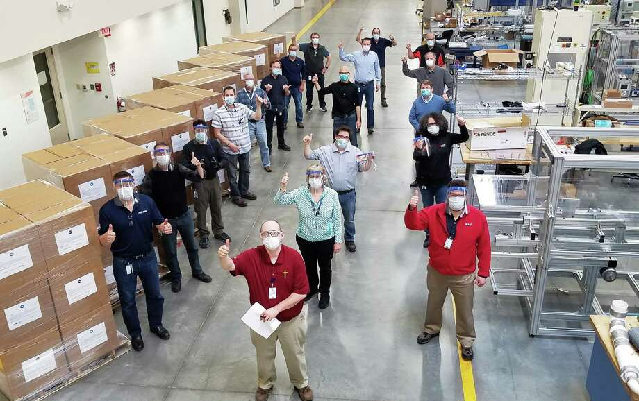Procter & Gamble is donating face shields for Americares' Covid-19 response. Photo: Contributed Photo
