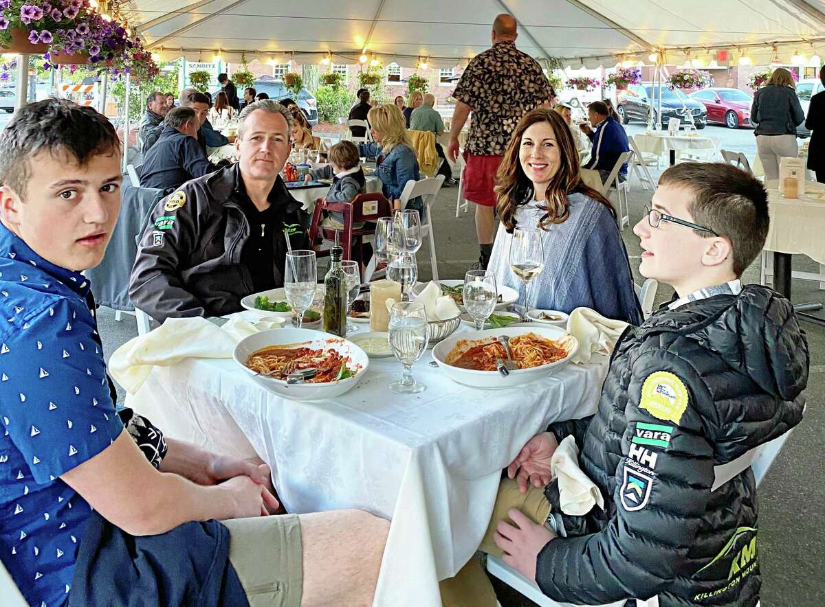 Sammy Bajraktarevic, owner of Luce restaurant at 98 Washington St., Middletown, erected a large tent in his parking lot to accommodate customers who turned out Wednesday, when the first phase of business reopenings were allowed by the state.