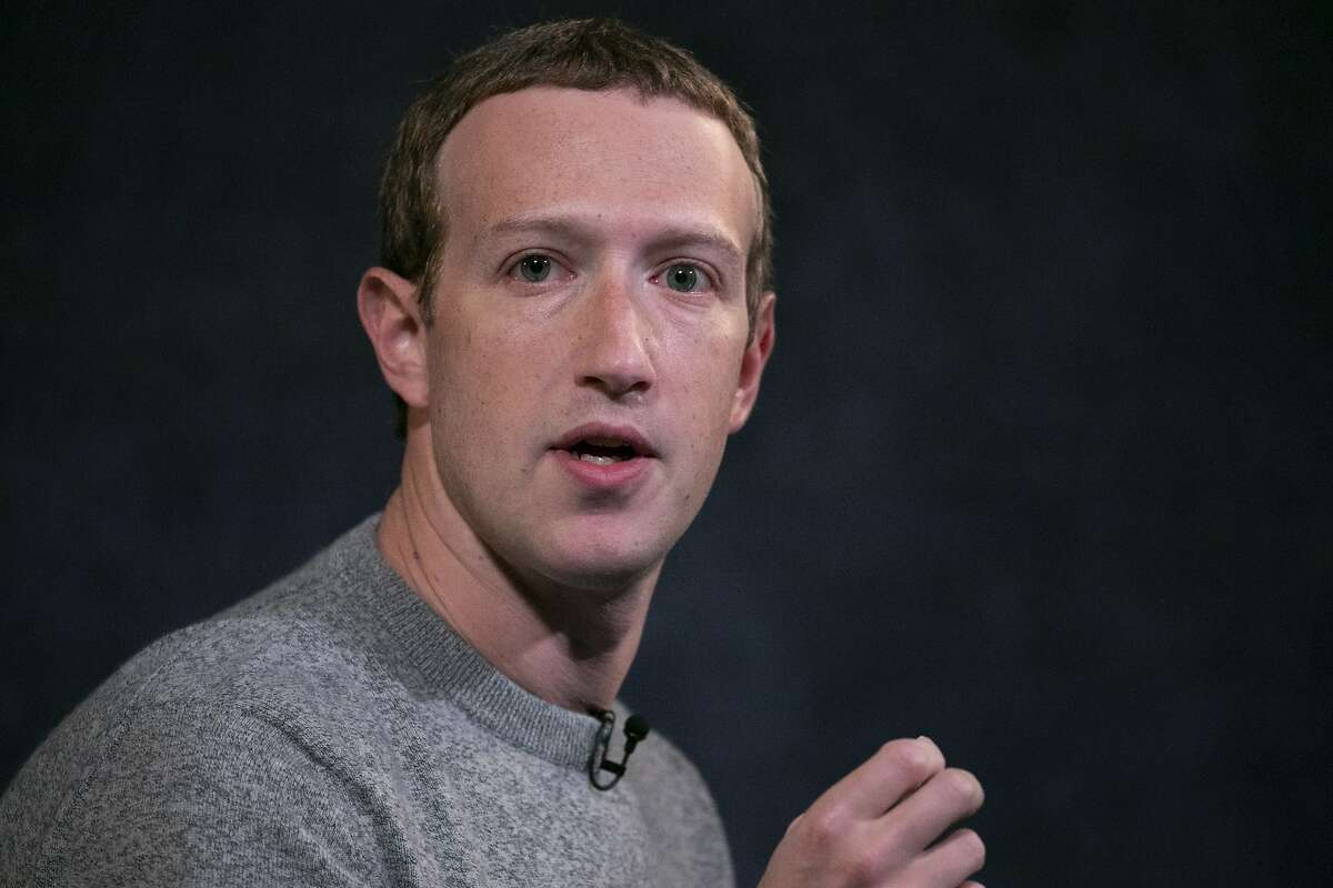 """This Oct. 25, 2019 file photo shows Facebook CEO Mark Zuckerberg speaking at the Paley Center in New York. If you want a gauge for what the future of office work will look like, watch how the biggest tech companies are preparing for a post-pandemic world. During an employee town hall Thursday Facebook CEO Mark Zuckerberg said """"We want to make sure we move forward in a measured way"""". Facebook, which has nearly 45,000 employees, is looking five to 10 years down the line as it plans for more remote work, even when COVID-19 is no longer a threat that keeps its employees working from home. (AP Photo/Mark Lennihan)"""