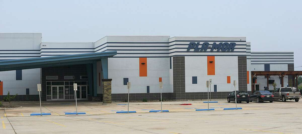 Exterior view of Pla-Mor as seen Thursday, May 21, 2020. The entertainment center will follow social distancing guidelines as it sets to officially open, with restrictions, on Friday.