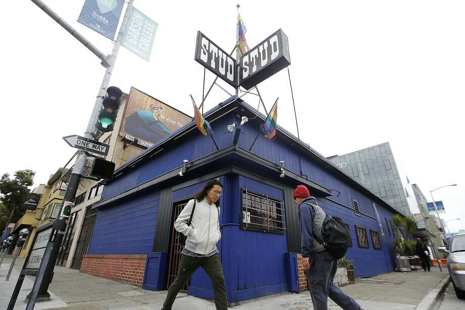 FILE - This July 6, 2016, file photo shows pedestrians walking in front of The Stud bar in San Francisco. The Stud, one of the nation's most celebrated gay bars, was forced to leave its home amid the financial fallout of the coronavirus pandemic. Photo: Jeff Chiu, Associated Press