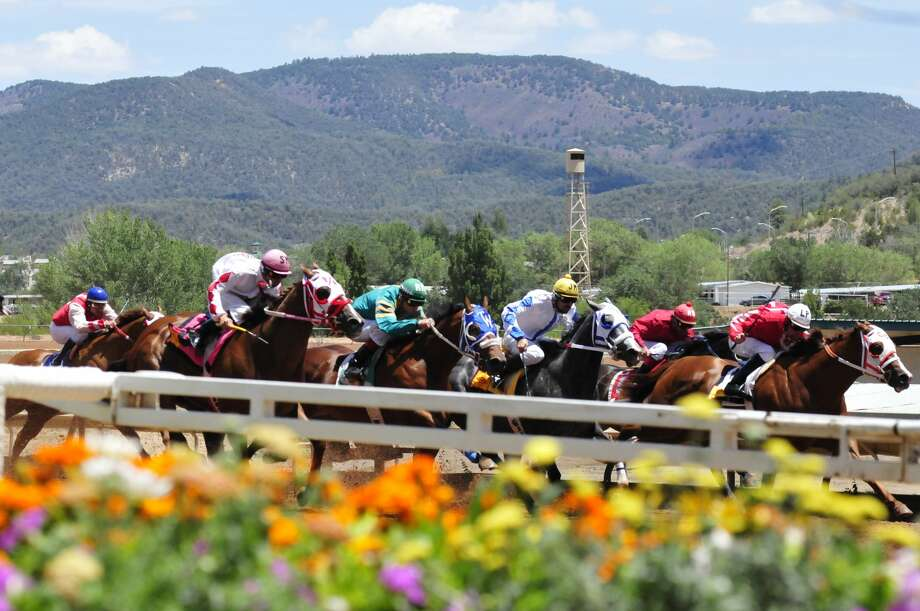 A race takes place on the Ruidoso Downs Race Track in this undated photo. Photo: Courtesy Photo