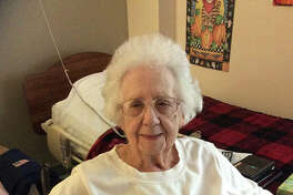 """Virginia Sims, also known as Grandma Sims, offers advice to high school seniors: """"Keep smiling through the rough times and continue to work hard."""" She is a resident of Heritage Health Jacksonville."""