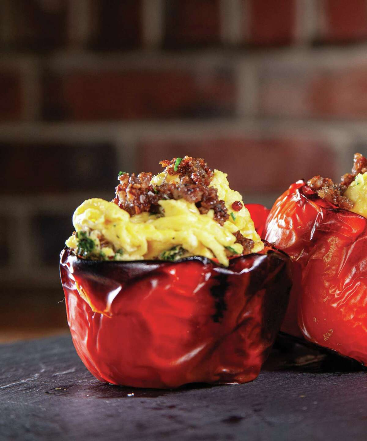 Farm Fresh Egg and Sausage Stuffed Bell Peppers