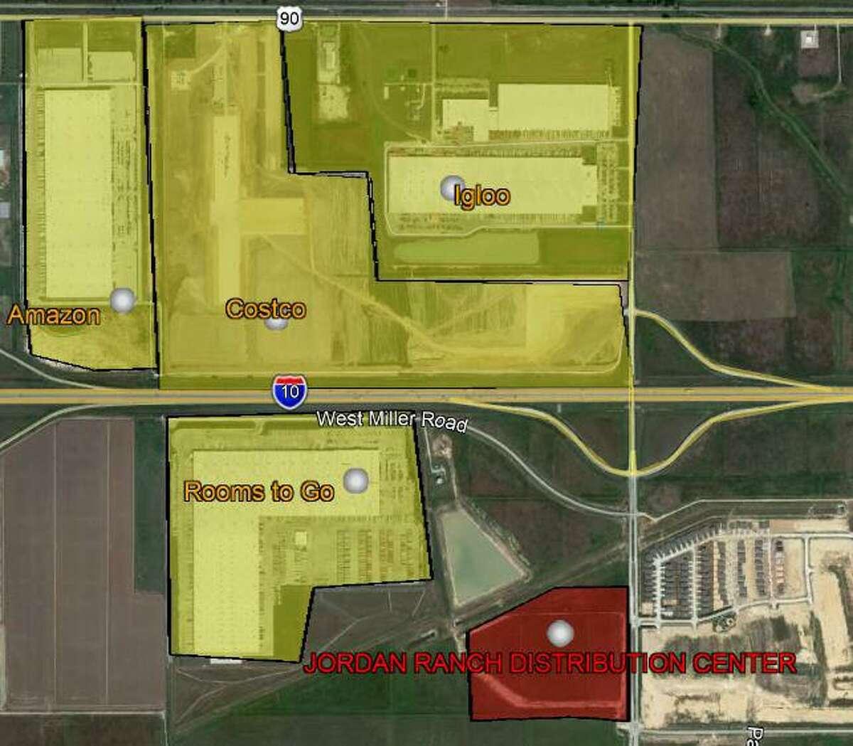 Jordan Ranch Distribution Center, a planned495,000-square-foot development onJordan Ranch Boulevard at Kingsland Boulevard in Katy, will target e-commerce tenants. Phelan-Bennett Development is developing the project on behalf ofWPT Industrial REIT.