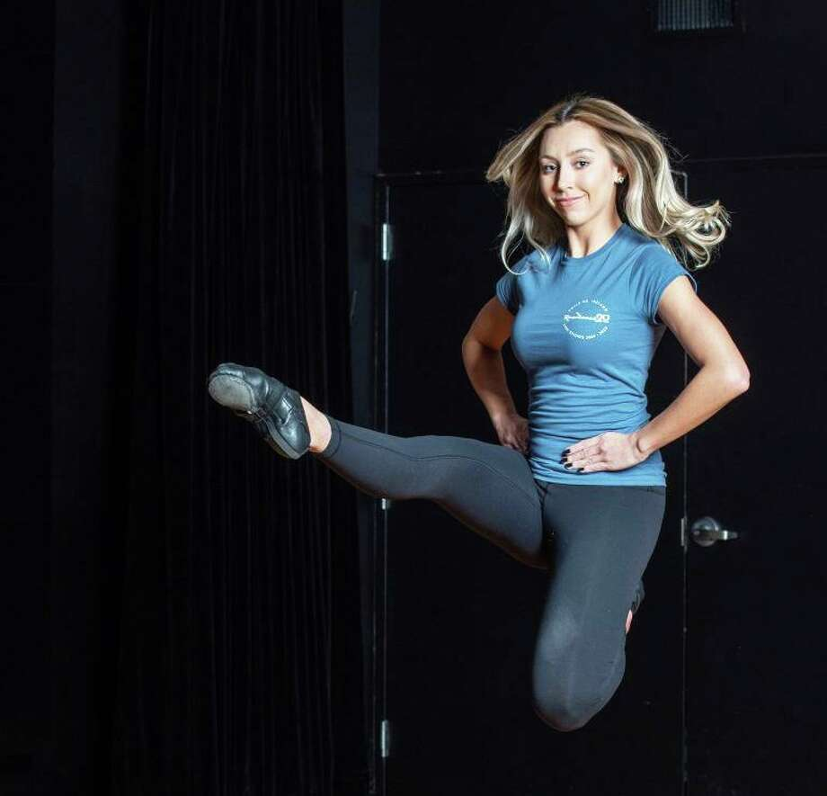 Kelsey Latham of Middletown is a senior journalism major. She's shown dancing on the Lyman Stage at Southern Connecticut State University in New Haven. Photo: Jason Edwards Photo
